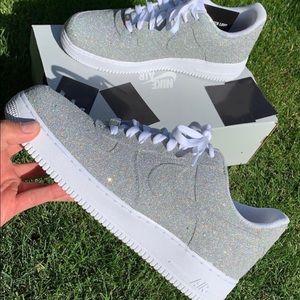 Nike Custom Air Force 1 Metallic M NWT